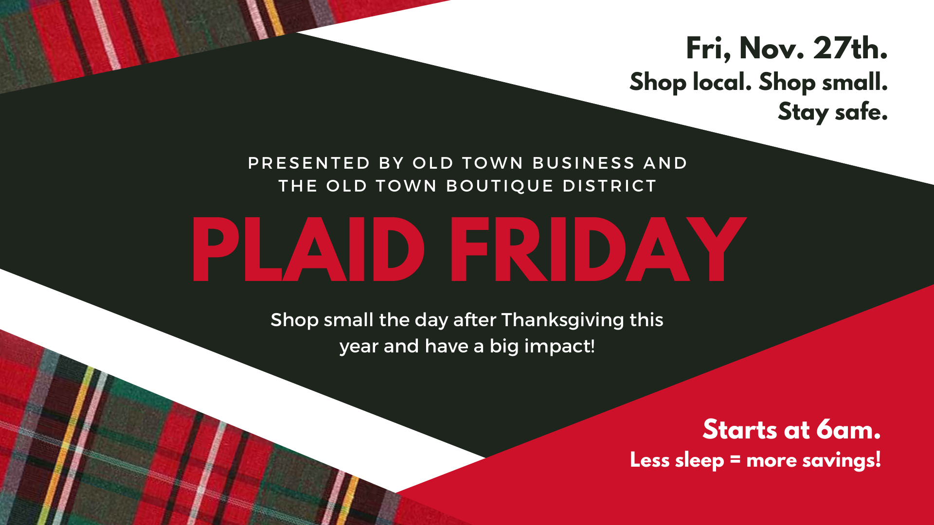 Plaid Friday Banner